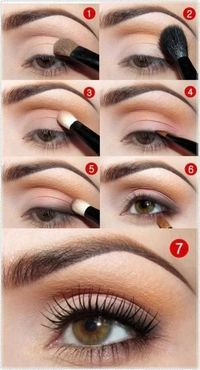 Natural eye makeup. Me want to do. Me always in a hurry. Me need eyebrow wax. Me impatient. Me want make up artist. Me still try.