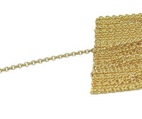1.10mm Rose gold Chain, 18K Strong chain, Price per Meter Chain, Chain Necklace, Dainty Necklace, Long Chain $315.00
