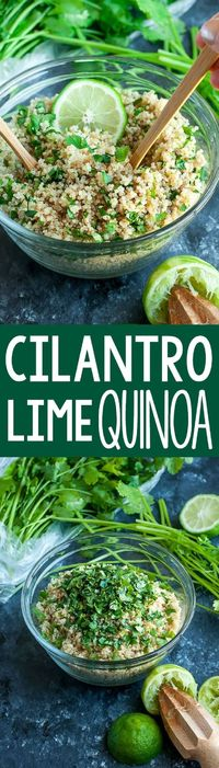 Get your fiesta on with this zesty cilantro lime quinoa. Gloriously gluten-free, vegan, and just plain delicious! Makes a great side or burrito bowl base! This