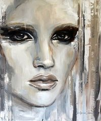 Buy Prints of Captivated, a Acrylic on Aluminium by Hesther Van Doornum from Netherlands. It portrays: Portrait, relevant to: sensual, woman, women, eyes, faces