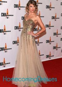 Sparkly Gold Sequined Taylor Swift Favorite Pleated Ruffled Tulle Gown