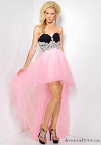 Cute Beaded Ruched Mini Low High Prom Gown for Cheap