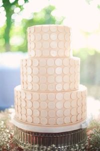 Elegant polka dot wedding cake