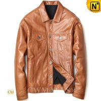 Haute Couture | Men Calfskin Leather Jacket CW808053 | CWMALLS.COM