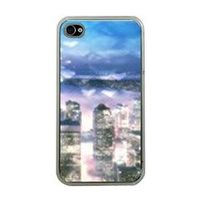 Blue and Purple Seattle Bokeh Hearts Apple iPhone 4 Case (Clear) by stineshop $24.99