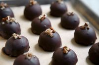These festive truffles from Hannah Kaminsky, a columnist at VegNews Magazine, combine the rich flavors of pecan pie under a thin layer of smooth chocolate Like