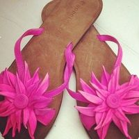 These bright pink shoes are perfect!!