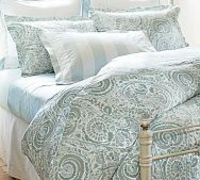 Painterly Paisley 400-Thread Count Duvet Cover & Sham - Porcelain Blue - love this. I think it might go with the vision I have in my head for our master bedroom. At least for summer, I'd do something different in winter.