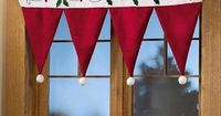 Christmas Window Decorations | window decorations, christmas crafts | Upside down Santa or elf hats
