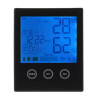 CH-909 Large LCD Digital Thermometer Hygrometer Temperature Humidity Gauge Alarm Clock Thermometer