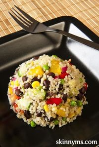 Our quinoa salad recipe is filled with fresh, healthy veggies, but it offers plenty of protein.
