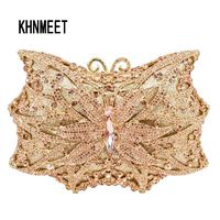 Butterfly Designer Crystal Day Clutch $178.17