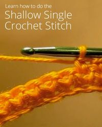 The Shallow Single Crochet Stitch