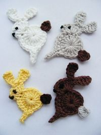 Crochet Applique Bunny - Photo Tutorial � 4U // hf