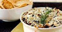 Baked Asiago and Caramelized Onion Hummus Dip Recipe by Brown Eyed Baker