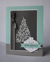Sunshine, Smiles & Stamps= Lovin' Life: Christmas Spirit - checkout this blog - some lovely cards and they don't look too complicated! |Pinned from PinTo for iPad|