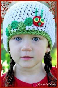 free, caterpillar hat crochet pattern