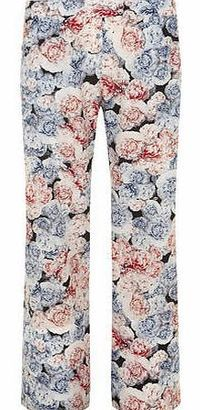 Dorothy Perkins Womens Alll About Rose Palazzo Trousers- Multi This is part of DPs exclusive All About Rose collection. Wide legged style palazo pant with beautiful blue and pink floral rose print. Approx length 70cm. 100% Polyester. Machine washable....