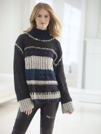 Color Block Sweater - Free Knitting Pattern