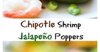Spicy Chipotle Shrimp Jalapeño poppers, stuffed with a hearty blend of cheeses, spicy chipotle sauce, and jumbo shrimp pieces. Topped with crispy bacon pieces a