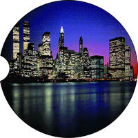 2 Absorbent Car Coasters, New York City, Car Accessories for her, Auto Coaster, Coaster, Cup Holder Coaster, Gift For Her, For Him $14.00