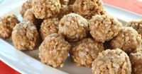Garth Brooks' Peanut Butter Balls. Mark made these yesterday. Soooo good, no chocolate and no baking.