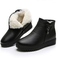 Winter Warm Leather Fur Plush Snow Flat Women Boots,NEW,on Sale!