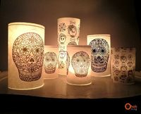 Ohoh Blog - diy and crafts: DIY Calaveras candle jar