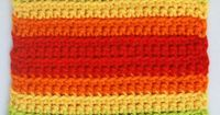 Try This Easy Double Rainbow Square Crochet Pattern: Double Rainbow Crochet Square -- Project Introduction