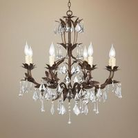 "Kathy Ireland Venezia Bronze 8-Light 26"" Wide Chandelier This is it. Our master bathroom no longer looks like a grayish greenish hard shoebox."