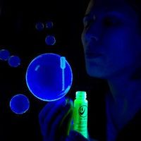 Glow in the dark bubbles! Carefully pour liquid from glow sticks into bubble solution - how FUN! (IMPORTANT CONSIDERATION: Glass shards INSIDE of glow sticks; if I attempt this I should be care-ful about process, and throw out remaining bubble solutio...