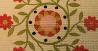 Pieced and Appliqued Cotton Quilt with Urn of Flowers Design | Sale Number 2642M, Lot Number 716 | Skinner Auctioneers