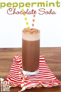 Have you guys ever had an egg cream? It's kind of a funny thing because it's basically a chocolate soda that doesn't have eggs OR cream in it. Chocolate syrup,