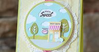 You're Sweet Card by Amy Sheffer for Papertrey Ink (March 2015)