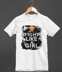 LEUKEMIA GRUNGE FIGHT LIKE A GIRL SHIRTS