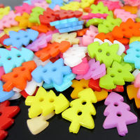 Pack of 100 Assorted Colour Plastic Christmas Tree Buttons. Xmas Craft Decorations. £3.29
