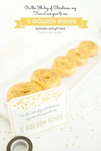 5 Golden Ring Christmas Gold donuts!