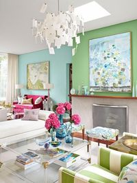 HGTV designer and host Sarah Richardson's home in Tornoto shows off her colorful paint and how you can pull it off too.