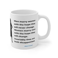Ceramic Famous Quote Mug, Graphic & Saying -Marriage Disagreements. This 11oz. mug makes a great forever gift!