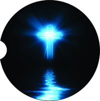 2 Absorbent Car Coasters of Cross, Religious #4. Car Accessories for her, Auto Coaster, Coaster, Cup Holder Coaster, Gift Ideas $14.00