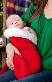 Holiday Baby Cocoon Crochet Pattern