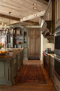 wooden beamed kitchen