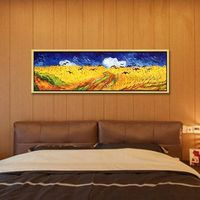Van Gogh oil painting on canvas impasto heavy texture Wall art Pictures Farm Harvest for living Room Home Decor Hand Painted caudros quadro $99.00