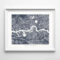 Rotterdam, The Netherlands Street Map Horizontal Print by Inkist Prints - Available at https://www.inkistprints.com