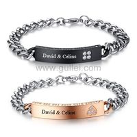 Gullei.com Matching Relationship bracelets Set for Him and Her