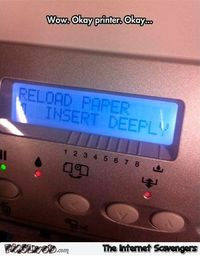 Horny printer meme