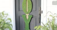 DIY Christmas Decorations   Looking for a wreath alternative this Christmas? Try these over-sized moss letters inspired by Garnett Hill!