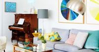 This energetic living room, photographed by Eve Wilson for The Design Files, encouraged us to shop.
