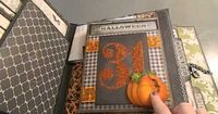 I am pinning this again because it is the BEST book with many examples of techniques to use in a mini. Beautiful book!! **Cassie Keith - This is just AMAZING!!Halloween Mini Album for Swap!