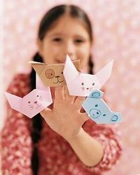 Origami Finger Puppet | Step-by-Step | DIY Craft How To's and Instructions| Martha Stewart